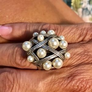 Pearl Brighton Ring Size 5